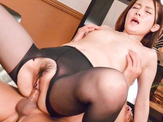 Misuzu Tachibana pleasures with pipe..